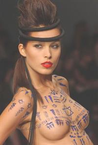 Petra Němcová in body paint - breasts