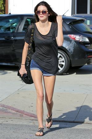 Kendall Jenner leaving a salon in LA 5/24/13
