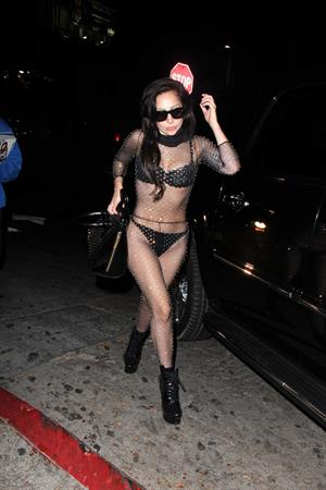 Lady Gaga arrives at Chateau Marmont in LA August 11, 2013
