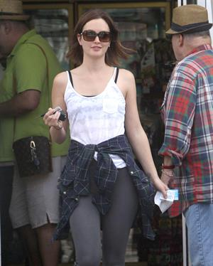 Leighton Meester at a gas station in Hollywood 3/10/13