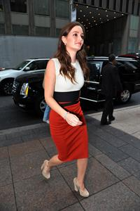 Leighton Meester  Arrives at Sirius XM Radio, New York City - October 3, 3012