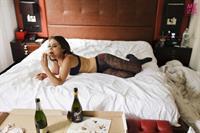 Rebecca Blumhagen in lingerie