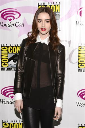 Lily Collins WonderCon Anaheim 2013 Day 2 on Mar. 30, 2013