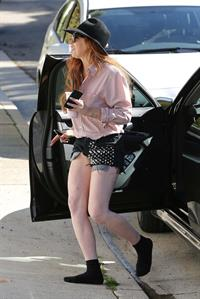 Lindsay Lohan - Exposes her socks in Los Angeles (31.01.2013)
