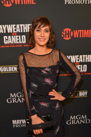 Lizzy Caplan Pre-Fight Party For Floyd Mayweather Jr. vs Canelo Alvarez Title Fight, September 14, 2013