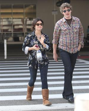 Lucy Hale arriving at LAX