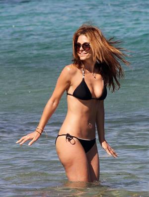 Maria Menounos Wearing a bikini at a beach in Greece on June 19, 2013