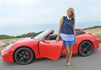 Maria Sharapova Porsche photoshoot in Manhattan Beach, California on July 11, 2013