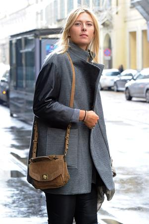 Maria Sharapova shopping at Armani Boutique December 2, 2012