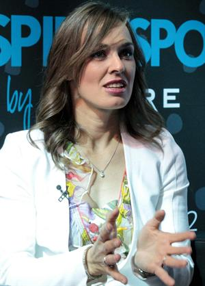 Martina Hingis pics press conference in Qatar 11/14/12