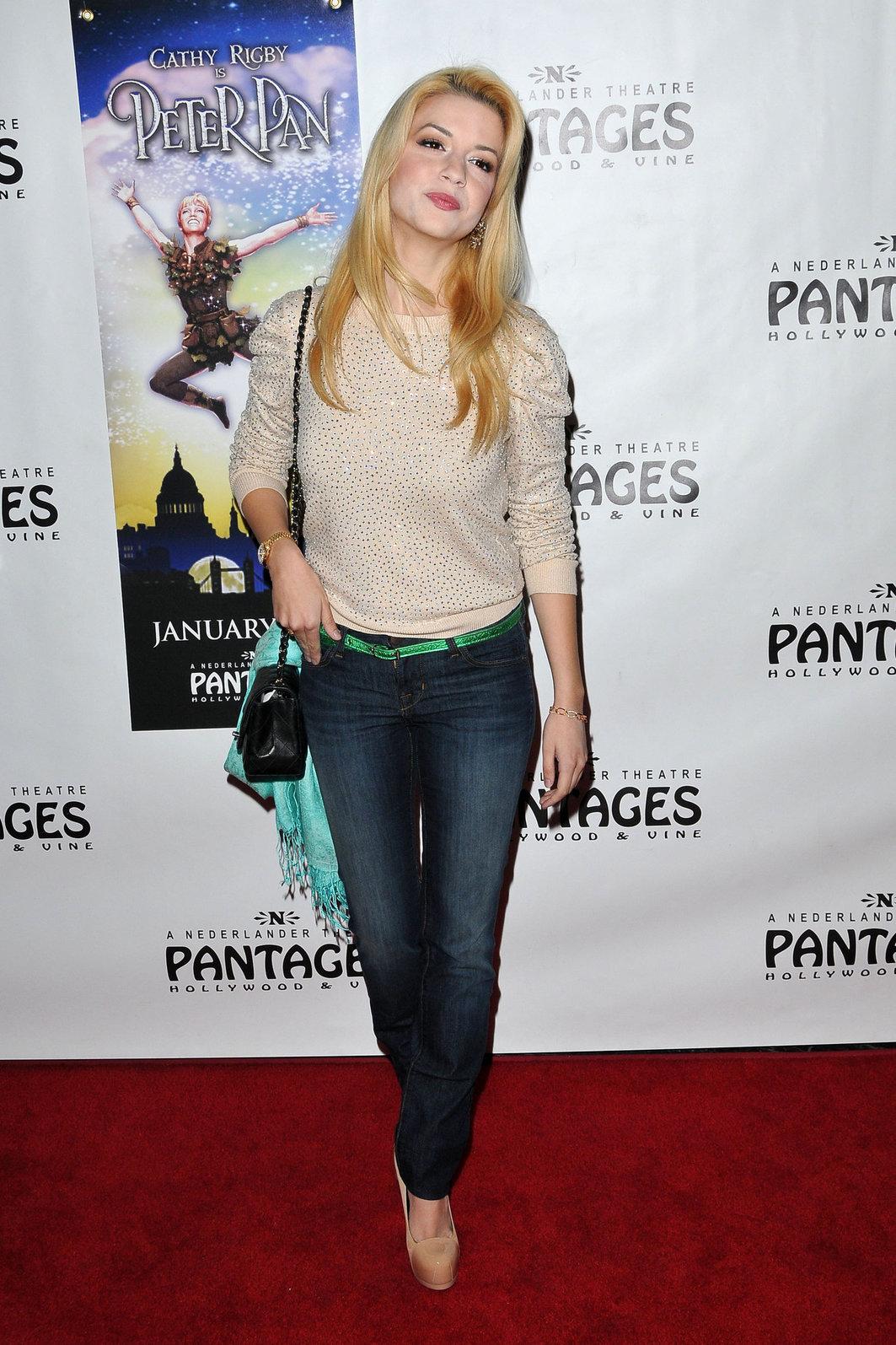 Masiela Lusha  Peter Pan  Opening Night in Hollywood on January 15, 2013