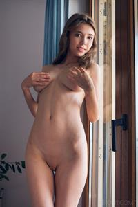 Mila Azul in  Flexa  for SexArt - Mila Azul spreads her legs wide open to masturbate her smooth pussy with her fingers