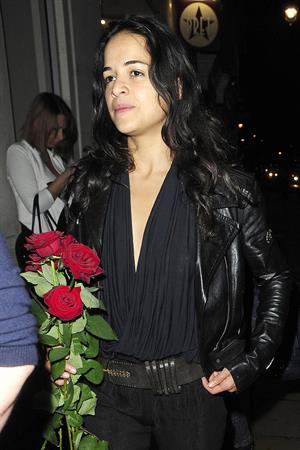 Michelle Rodriguez - leaving Rose Club in London 8/13/12