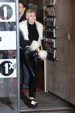 Miley Cyrus – BBC Radio 1 arrival in London 11/12/13
