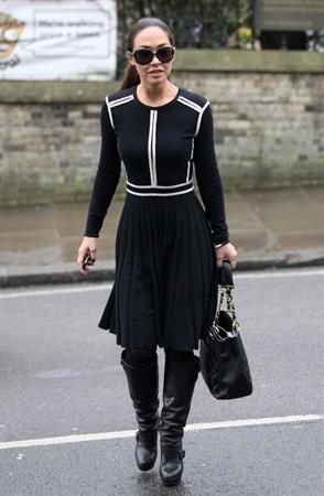 Myleene Klass in London on March 1, 2013