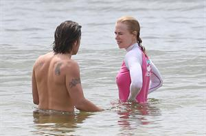 Nicole Kidman in Bikini Morning Swim candids in Sydney February 4, 2013