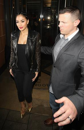 Nicole Scherzinger night out in London (08.03.2013)