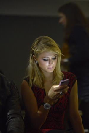 Paris Hilton Mango Fashion Show as part of the 080 Barcelona Fashion Week on January 28, 2013