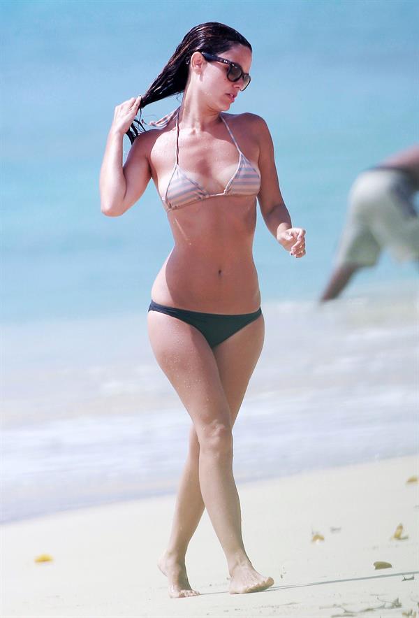 Rachel Bilson on the beach in Barbados 4/16/13