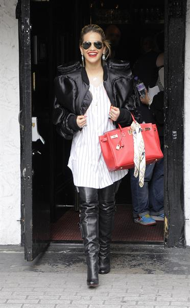 Rita Ora - leaving the BBC Maida Vale Studios in London 10 August 2012