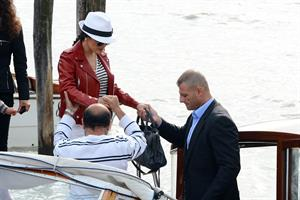 Salma Hayek - Touches down with her husband Francois-Henri Pinault at Marco Polo Airport in Venice (28.05.2013)