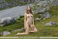 Mariposa poses nude outside for FemJoy