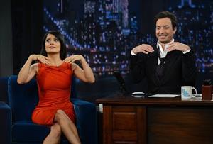Salma Hayek Late Night with Jimmy Fallon New York (10/12/12)