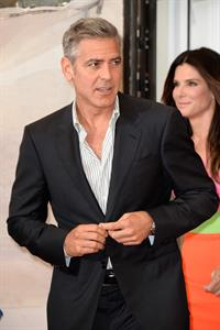 George Clooney and Sandra Bullock Gravity Photocall 70th Venice International Film 28.08.13