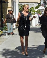 Sharon Stone leaves Villa Blanca restaurant in Beverly Hills October 2, 2012