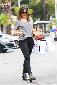 Sophia Bush shopping at Fred Segal in West Hollywood 11/25/12