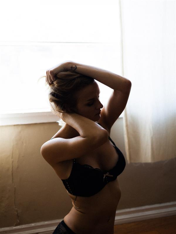 Alexandra Rabe in lingerie