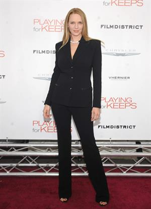 Uma Thurman New York Premiere of 'Playing for Keeps' presented by The Cinema Society & Film District December 5
