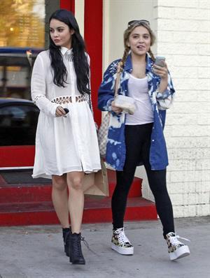 Vanessa Hudgens leaving Sun Cafe in Studio City 10/27/12