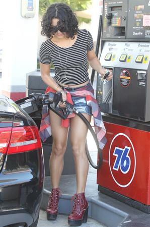 Vanessa Hudgens ...at a gas station in Los Angeles Sept 28, 2012