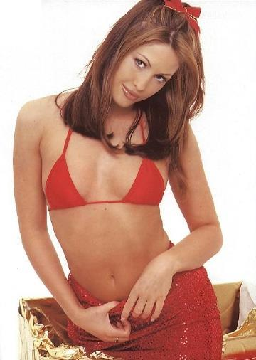 Nicola Charles in a bikini