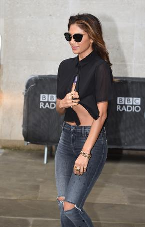 Nicole Scherzinger arriving at BBC Radio 1 studio August 26, 2014