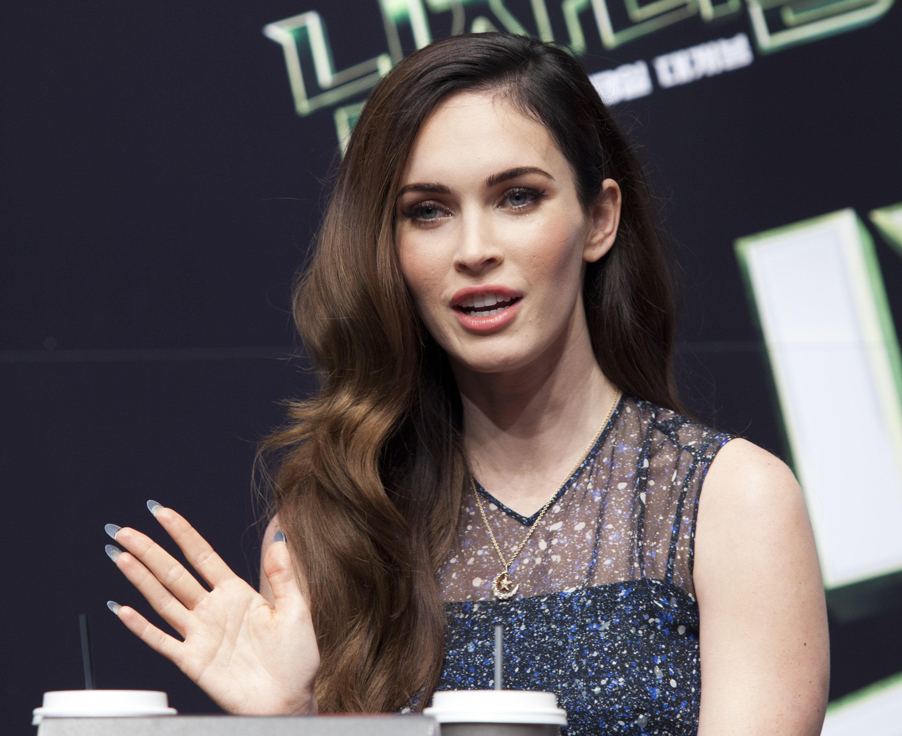 Megan Fox Teenage Mutant Ninja Turtles, press conference in Seoul August 27, 2014