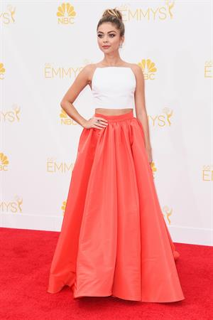 Sarah Hyland at 66th annual Primetime Emmy Awards, arrivals August 25, 2014