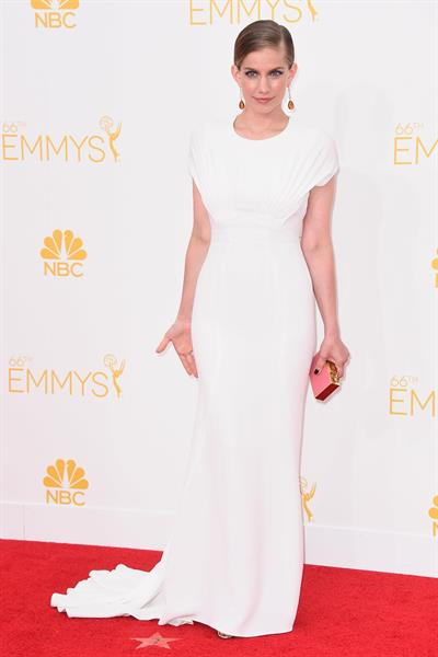 Anna Chlumsky at the 66th annual Primetime Emmy Awards, August 25, 2014