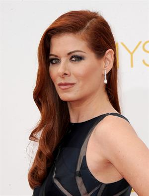 Debra Messing at the 66th annual Primetime Emmy Awards, August 25, 2014