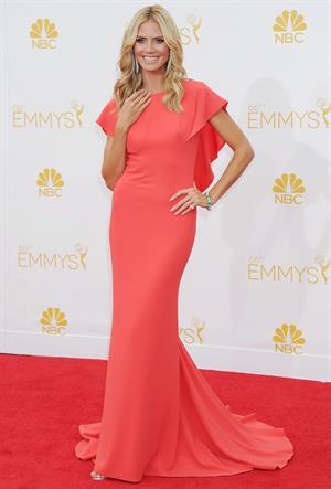 Heidi Klum at the 66th annual Primetime Emmy Awards, August 25, 2014