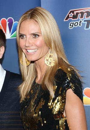 Heidi Klum at Americas Got Talent season 9 post show red carpet event on August 20, 2014