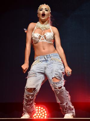 Rita Ora performs on Day 2 of the V Festival August 17, 2014
