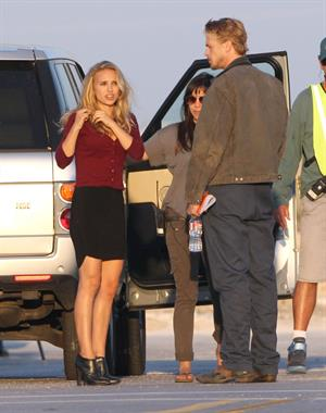 Natalie Portman On The Set Of Terrence Malick Film In Austin (10/10/12)