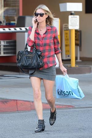 Nicky Hilton Shops at Kitson on Robertson in LA 4/2/2013