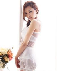 Chrissie Chau in lingerie