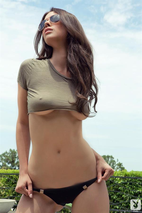 Laura Christie in a bikini - breasts