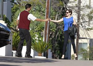 Rose McGowan - Arriving at a hotel in Century City - August 9,2012