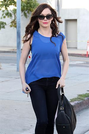 Rose McGowan Shops at Maxfields on July 26, 2012, Los Angeles, California