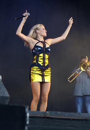 Pixie Lott performing on Day 2 of the V Festival at Weston Park August 17, 2014